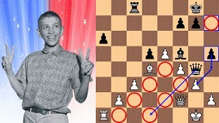 """14-year-old Bobby Fischer vs Dr. Max Euwe 