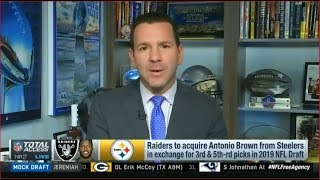 Raiders to accquire Antonio Brown from Steelers in exchange for 3rd & 5th-pick in 2019 NFL Draft