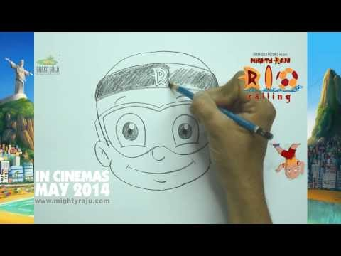 VIDEO: Learn How to Draw Mighty Raju