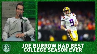 Joe Burrow had BEST college football season of all-time I Pick Six Podcast