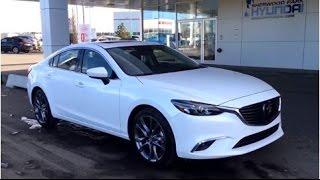 2016 Mazda 6 GT | Snowflake Pearl White | 5 Passenger Sedan | Sherwood Park Hyundai