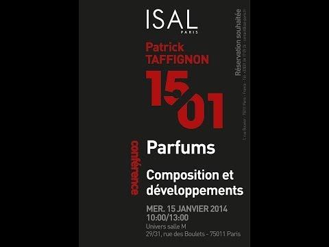 Conférence: Parfums, composition et développements