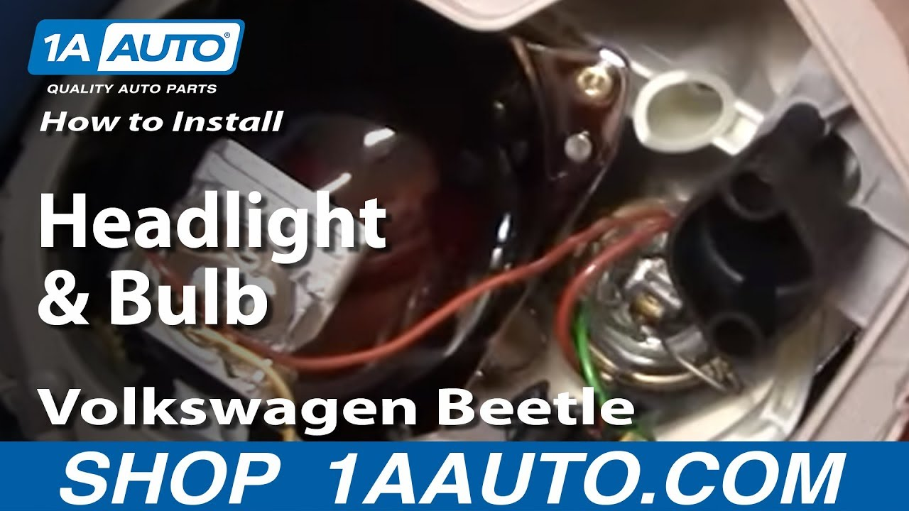 How To Install Replace Headlight And Bulb Volkswagen
