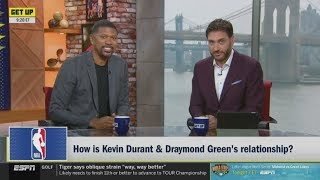 """Jalen Rose on """"How is Kevin Durant & Draymond Green's relationship?"""""""