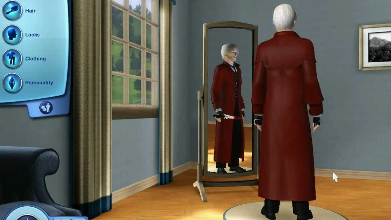 dante devil may cry 4 in the sims 3 world adventures with cool mods youtube