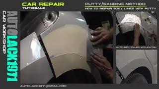 Repair body lines with putty/ Cómo reparar las líneas de la carrocería con masilla. P207