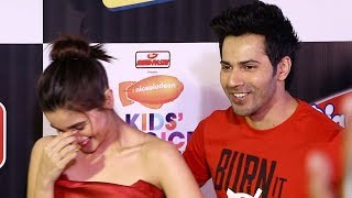 Alia Bhatt & Varun Dhawan's FUNNY Moment With Media Reporters At Nickelodeon Kids Choice Awards