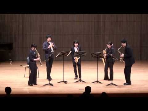 Tsukuba Saxophone Quartet - Richard Ingham - Mrs Malcolm, Her Reel (Funky Freuchie)