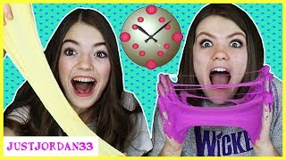 30 SECOND Slime Challenge! Making Slime SUPER Fast / JustJordan33