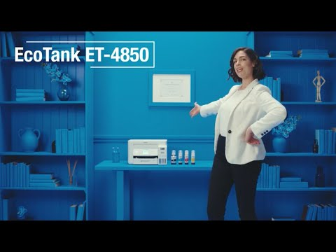 The EcoTank ET-4850 is the ultimate printer for the home office. This cartridge-free solution comes with plenty of ink and features supersized ink tanks for stress-free, conniption-free printing.