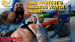 UK'S FASTEST & BIGGEST WATERSLIDE. 60MPH!!