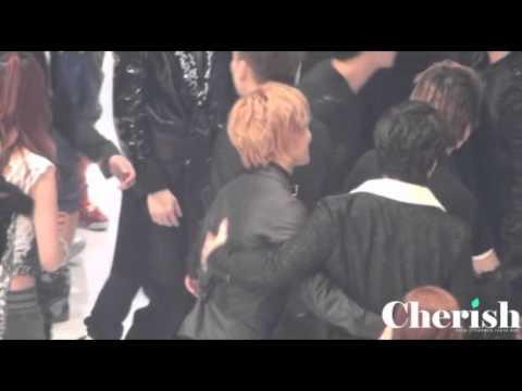 -301210- Taemin with his Suju hyungs (Kyuhyun, Sungmin ) + Trax Jungmo gayo ending fancam