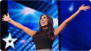 Francine Lewis with her many impressions - Week 2 Auditions | Britain's Got Talent 2013