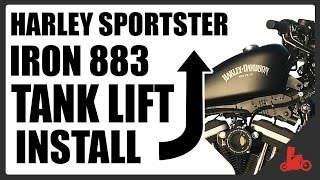 HOW TO: Install Tank Lift - Harley Sportster Iron 883