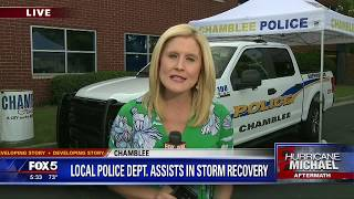 Police collect Hurricane Michael relief supplies