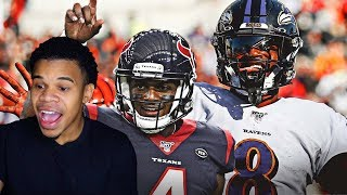 THE BATTLE OF THE YOUNG ELITE QBS!!!! RAVENS VS TEXANS WEEK 11 REACTION