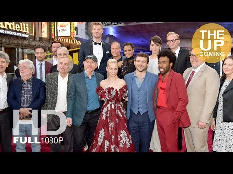 Solo A Star Wars Story red carpet arrivals & photocall: Emilia Clarke Alden Ehrenreich Donald Glover