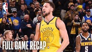 NUGGETS vs WARRIORS | Klay Thompson Knocks Down 9 Three-Pointers | March 8, 2019