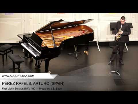 Dinant2014 PÉREZ RAFELS Arturo First Violin Sonata, BWV 1001 Presto by J S Bach