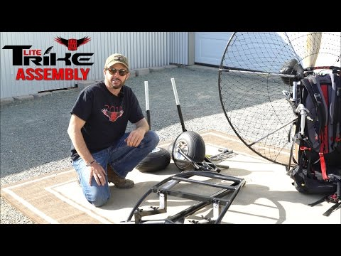 Paramotor Tips & Tricks How to Assemble a BlackHawk Lite Trike in Minutes!