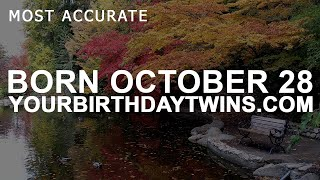 Born On October 28 | Birthday | #aboutyourbirthday | Sample