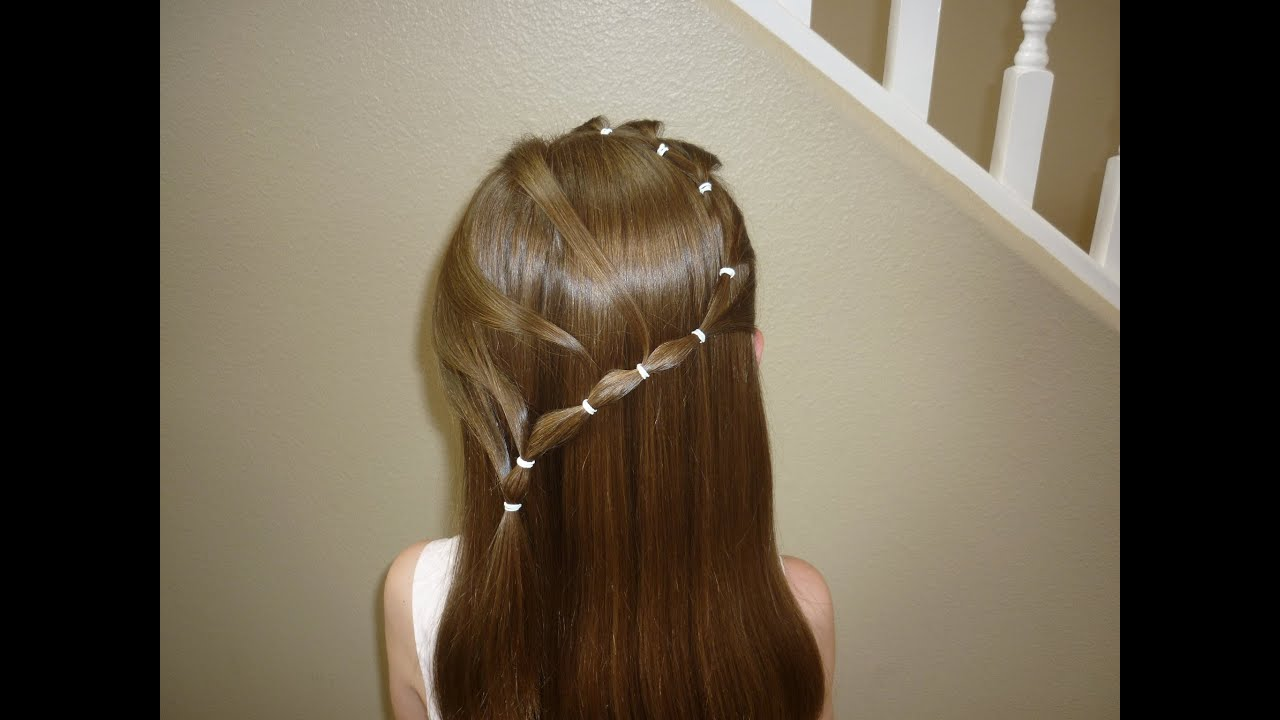 Elastic Snake Braid, Flower Girl Hairstyles - YouTube