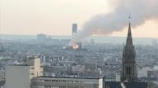 Blaze at Paris Notre Dame Cathedral