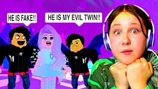 I Found Out My BOYFRIEND Has An EVIL TWIN!! Roblox Royale High Roleplay