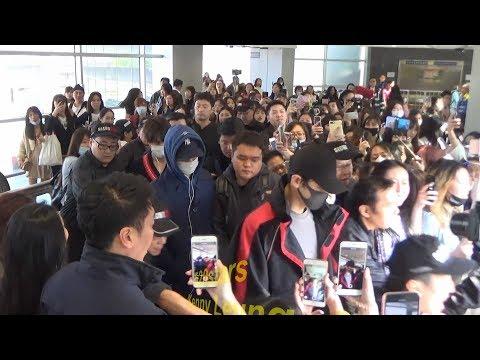 EXO (Chanyeol、KAI、Sehun) Arrived Hong Kong Airport 20180323