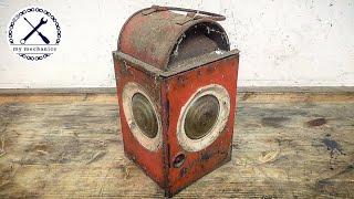 Forgotten Rusty Oil Lamp - Restoration