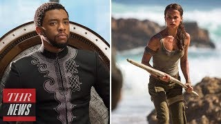 'Black Panther' Beats 'Tomb Raider' at Weekend Box Office With $27M | THR News