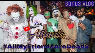 *BONUS VLOG* Party with RJ VLOG #AllMyFriendsAreDead2 Halloween Party *Atlanta