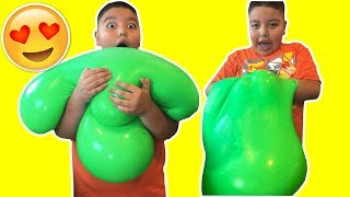 DIY GIANT SLIME STRESS BALL! Super Soft & Squishy!