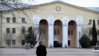 Андреевский флаг в академии ВМС им. Нахимова