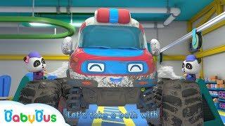 Monster Ambulance Got Injured | Monster Car Race | Baby Panda Mechanic | BabyBus