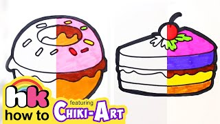 Glitter Burger to Learn Colors for kids, How To Draw, Paint & Learn Colors for kids children