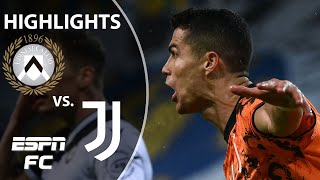 Cristiano Ronaldo rescues Juventus again with 2 late goals vs. Udinese | ESPN FC Serie A Highlights