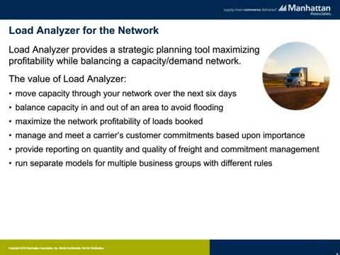 Load Analyzer Drives Carrier Network Balance and Profits