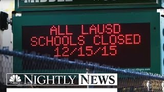 Bomb Threat Triggering Massive L.A. School Closings Called a Hoax | NBC Nightly News