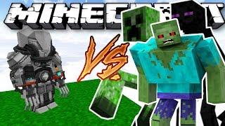 Bộ Giáp TỐI TÂN Vs Quái Vật Đột Biến   Minecraft Mod Showcase
