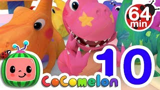 Dinosaur Number Song | +More Nursery Rhymes & Kids Songs - CoCoMelon