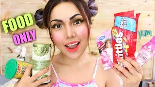 FULL FACE Makeup using only FOOD !!!