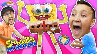 Annoying Spongebob Squarepants Toy Stretch Test! FUNnel Fam Stretchkins Dance Plushies