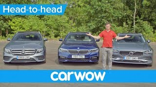 Volvo V90 v BMW 5 Series Touring v Mercedes E-Class Estate 2018 | Head2Head