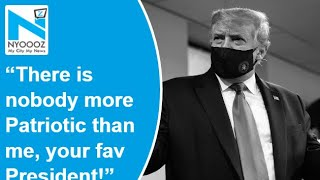 Donald Trump tweets image of himself wearing mask, calls i..