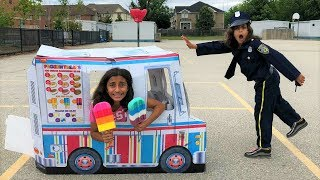 Police Buy Ice Cream from the Ice Cream Truck!! Kids Pretend Play