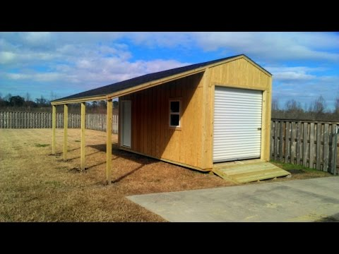 10x20 Shed With Lean To Shed Plans Stout Sheds Llc