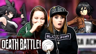 Blake Belladonna vs Mikasa Ackerman | DEATH BATTLE REACTION