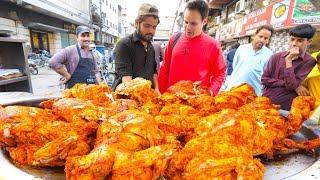 Street Food IFTAR in Karachi for RAMADAN!!! EXTREME Chicken Chargha + IFTARI Street Food in Pakistan