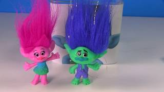 Opening Toy Surprise Blind Boxes  Game with Trolls Movie Poppy & Branch